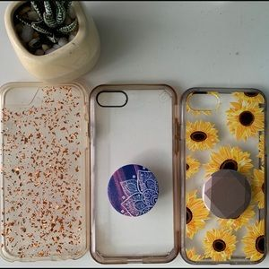 3 iPhone 7/8 phone cases with 2 Pock Sockets